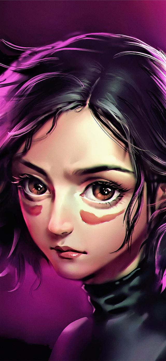 alia battle angel uhd 4k iPhone X wallpaper