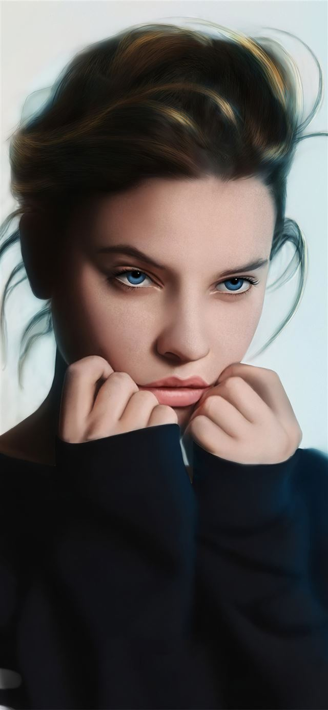 barbarapalvin cute art iPhone X wallpaper