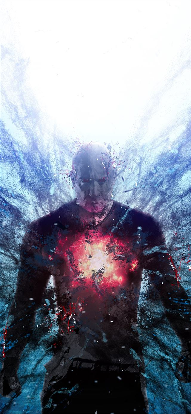 bloodshot art 4k iPhone 11 wallpaper