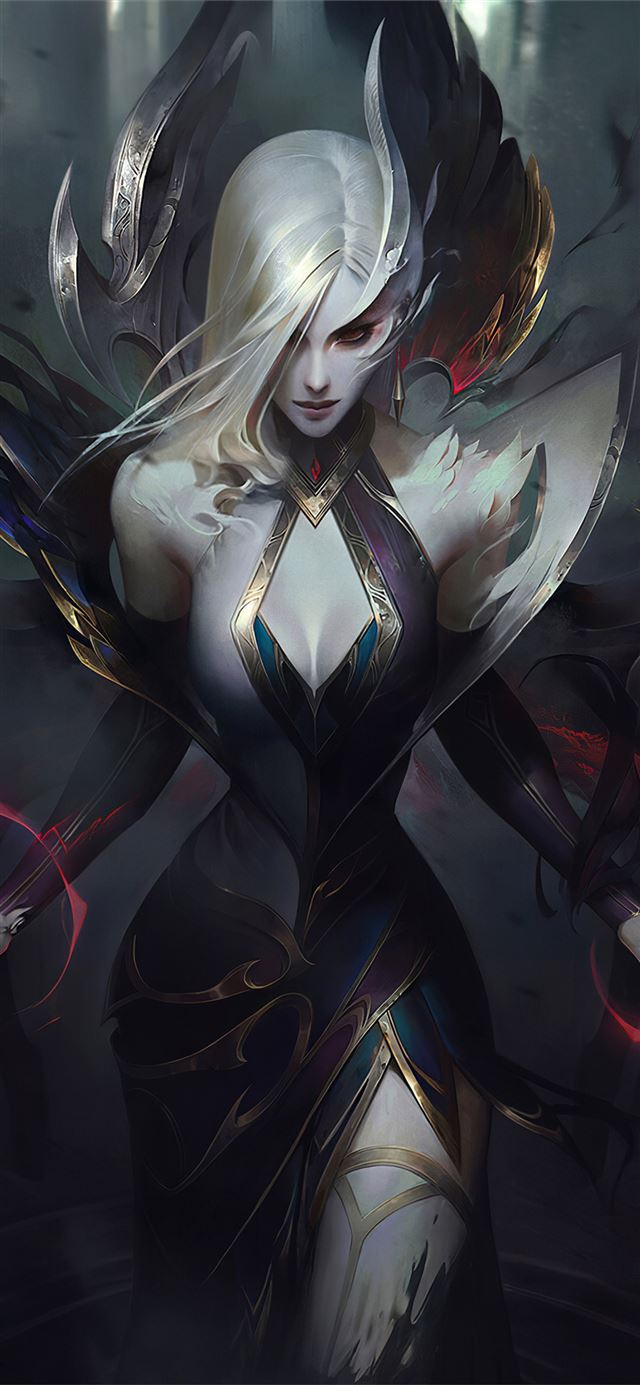 coven morgana league of legends 4k iPhone X wallpaper