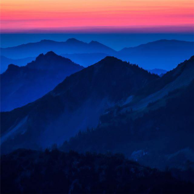 dark evening high heights of mountains iPad Pro wallpaper