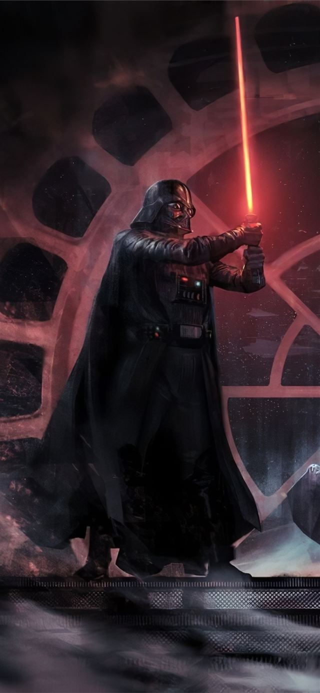darth vader vs luke skywalker iPhone X wallpaper
