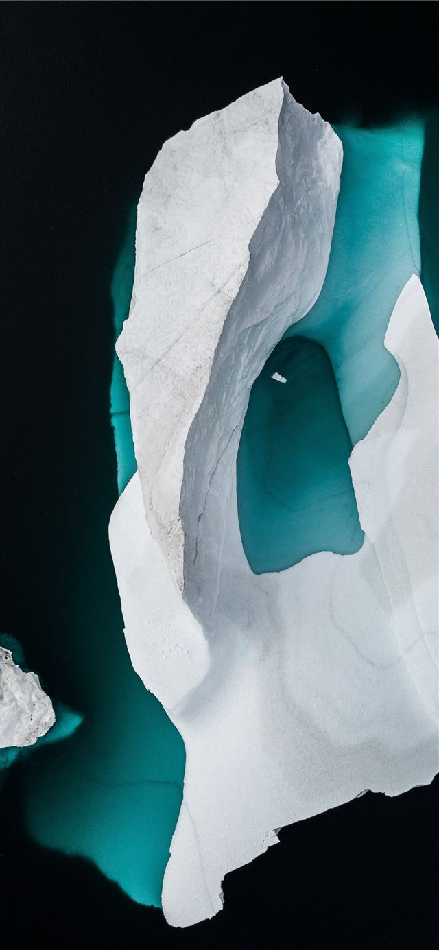 Iceberg drone photo iPhone 11 wallpaper