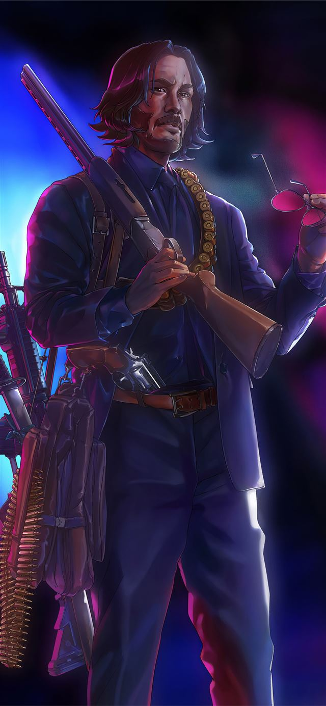john wick hunter iPhone X wallpaper