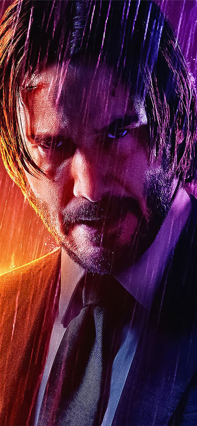 john wick rain 4k iPhone X wallpaper