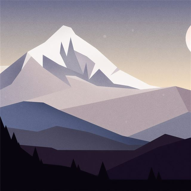 minimal mountains landscape 4k iPad Pro wallpaper