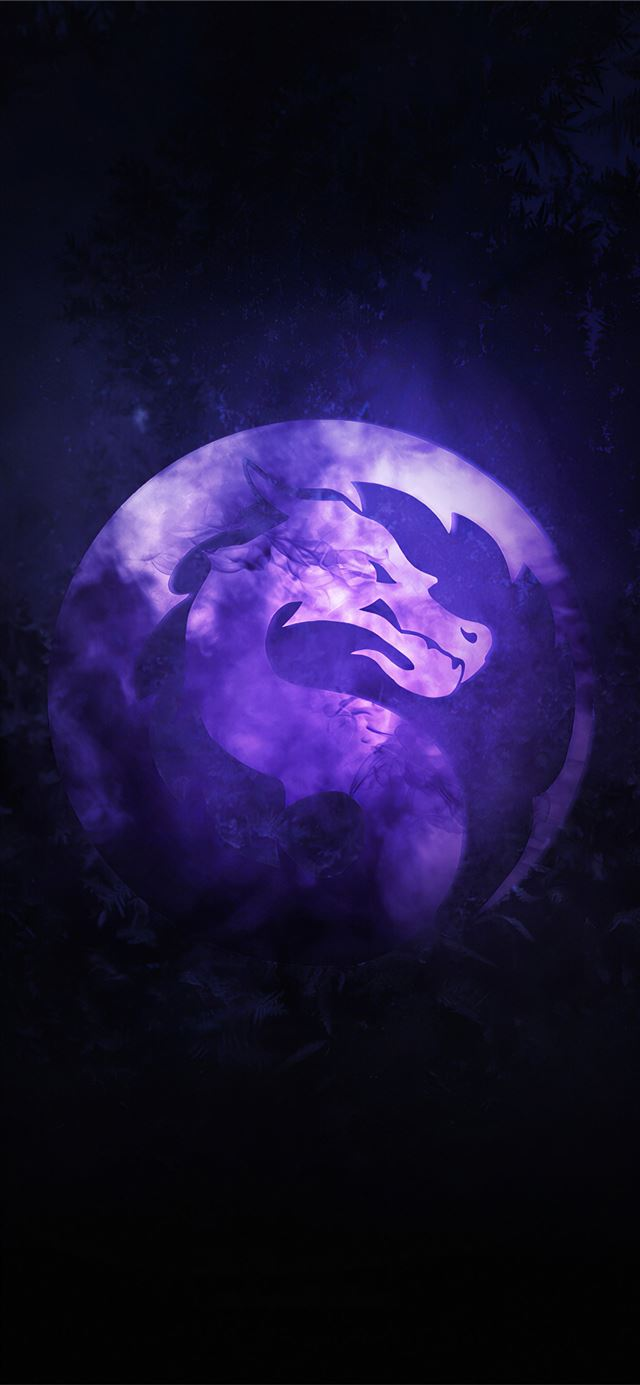mortal kombat sub zero corruption logo iPhone X wallpaper