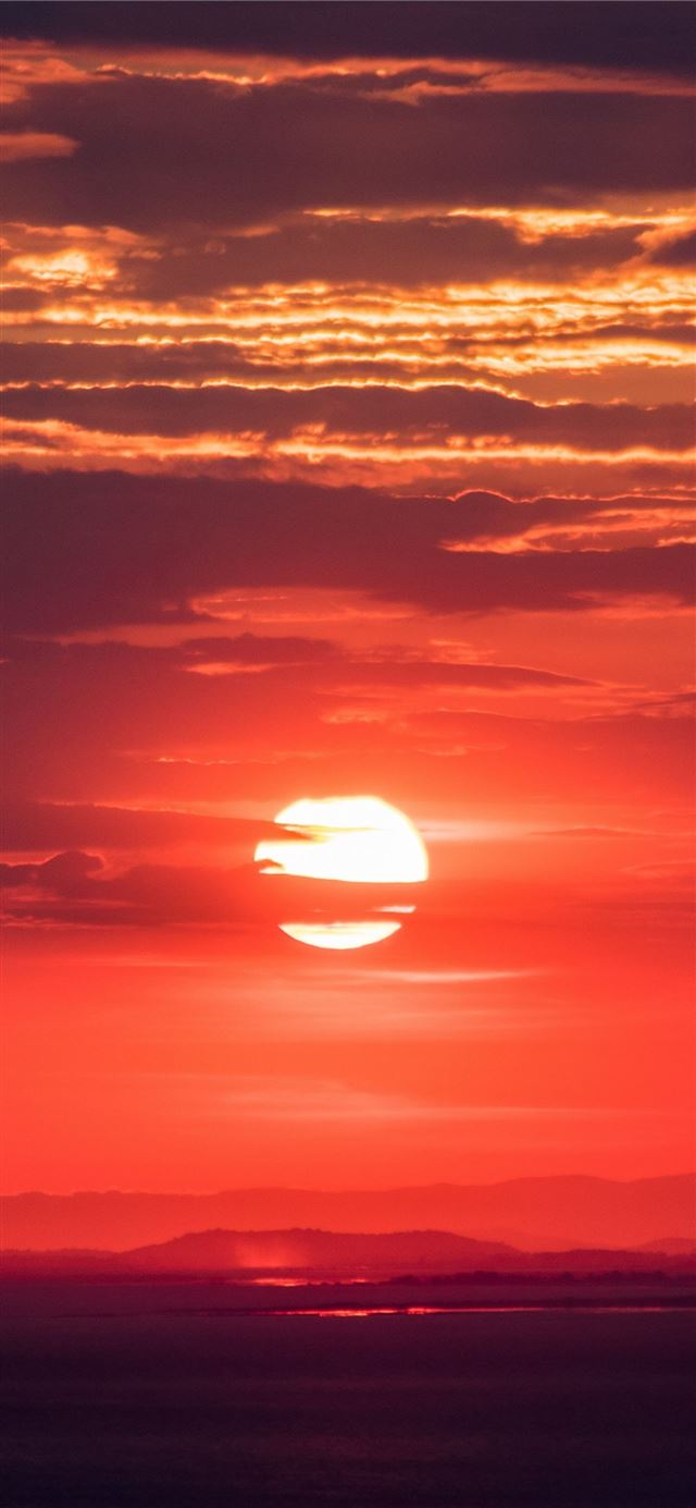 Nature sun sunset sky hd 4k background for android iPhone X wallpaper