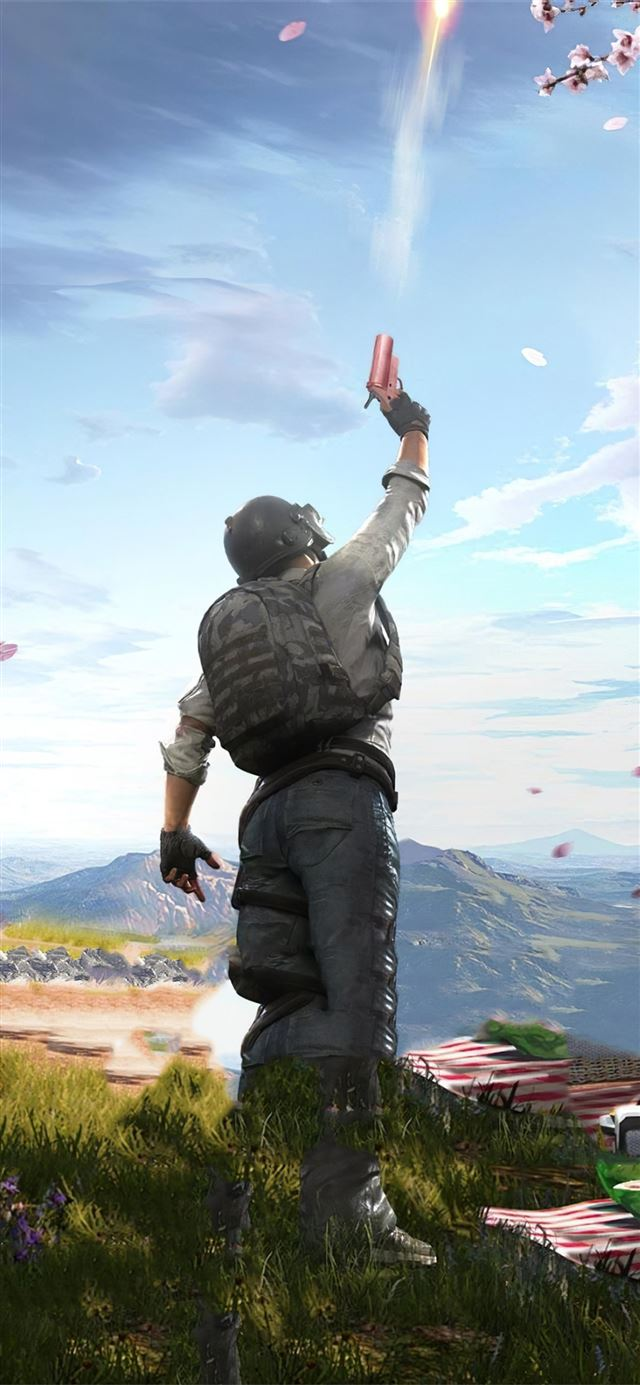 pubg guy gun iPhone X wallpaper