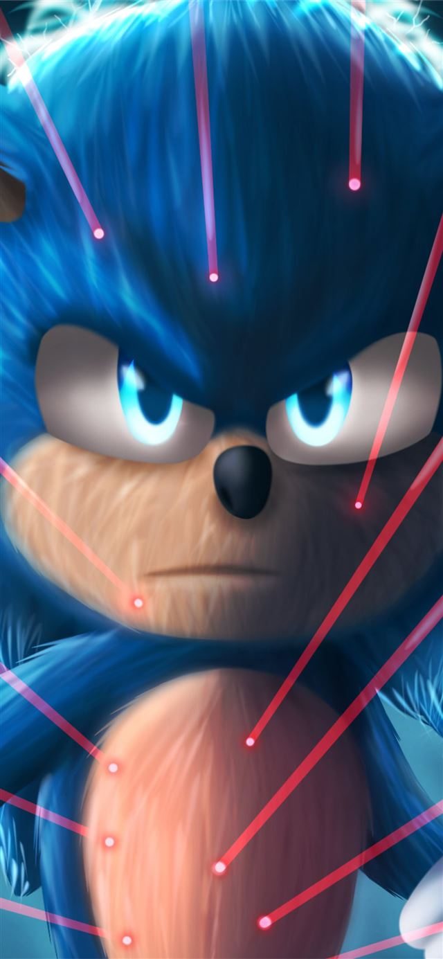 sonic the hedgehog4k art iPhone 11 wallpaper