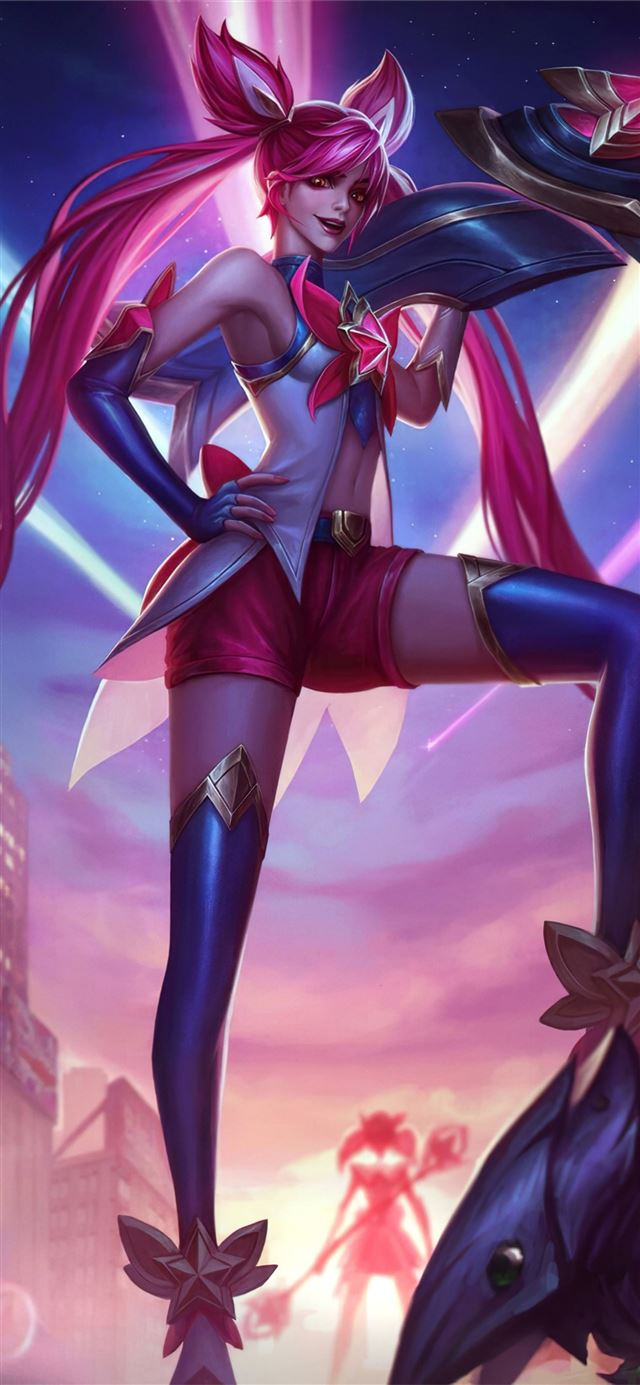 star guardians jinx 4k iPhone 11 wallpaper