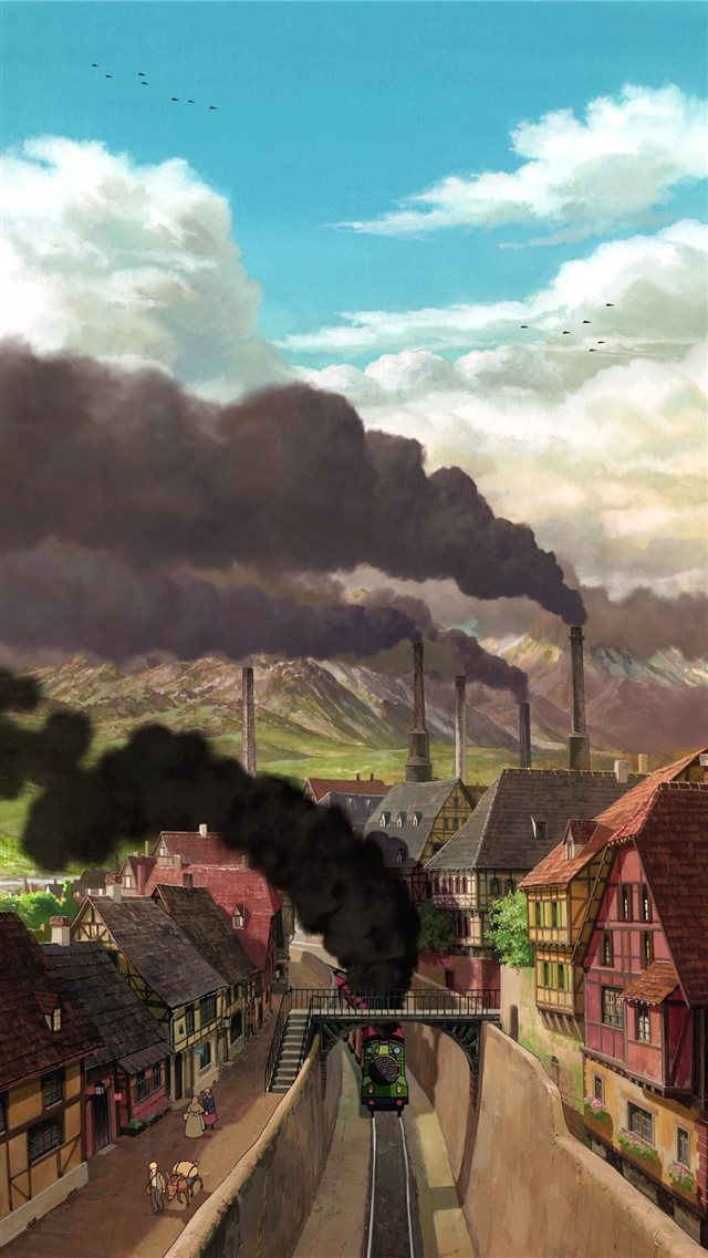 Studio Ghibli Scenery Top Free Studio Ghibli iPhone SE wallpaper