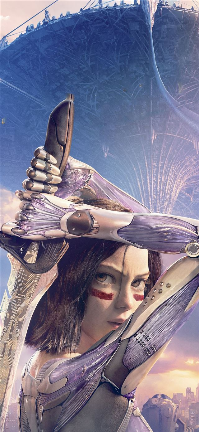 the alita battle angel 2020 iPhone 11 wallpaper