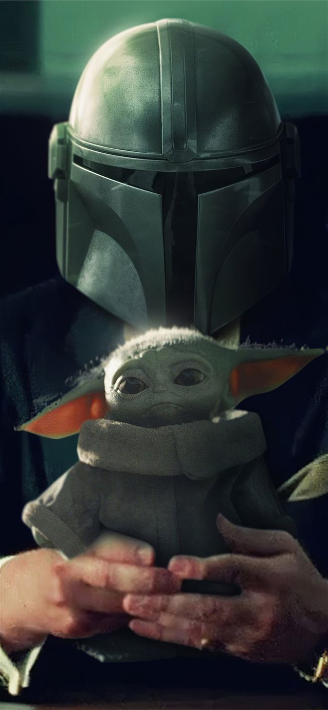 the mandalorian yoda 4k iPhone 11 wallpaper