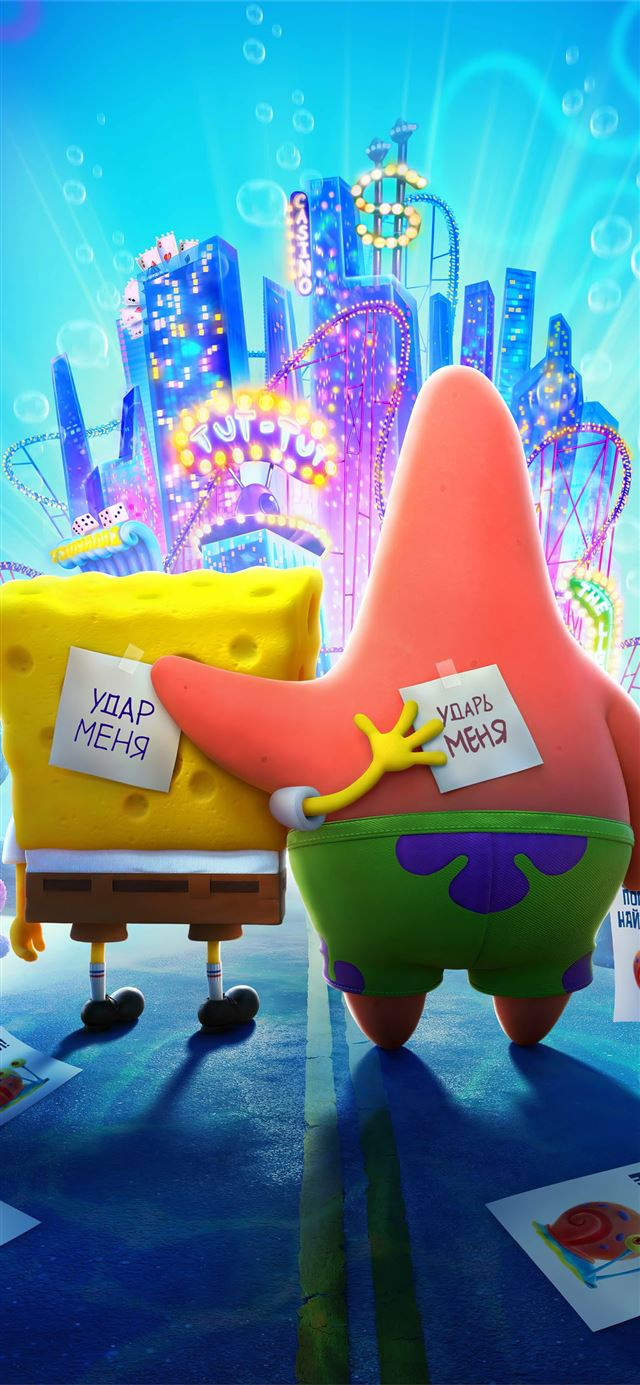 the spongebob movie sponge on the run iPhone X wallpaper