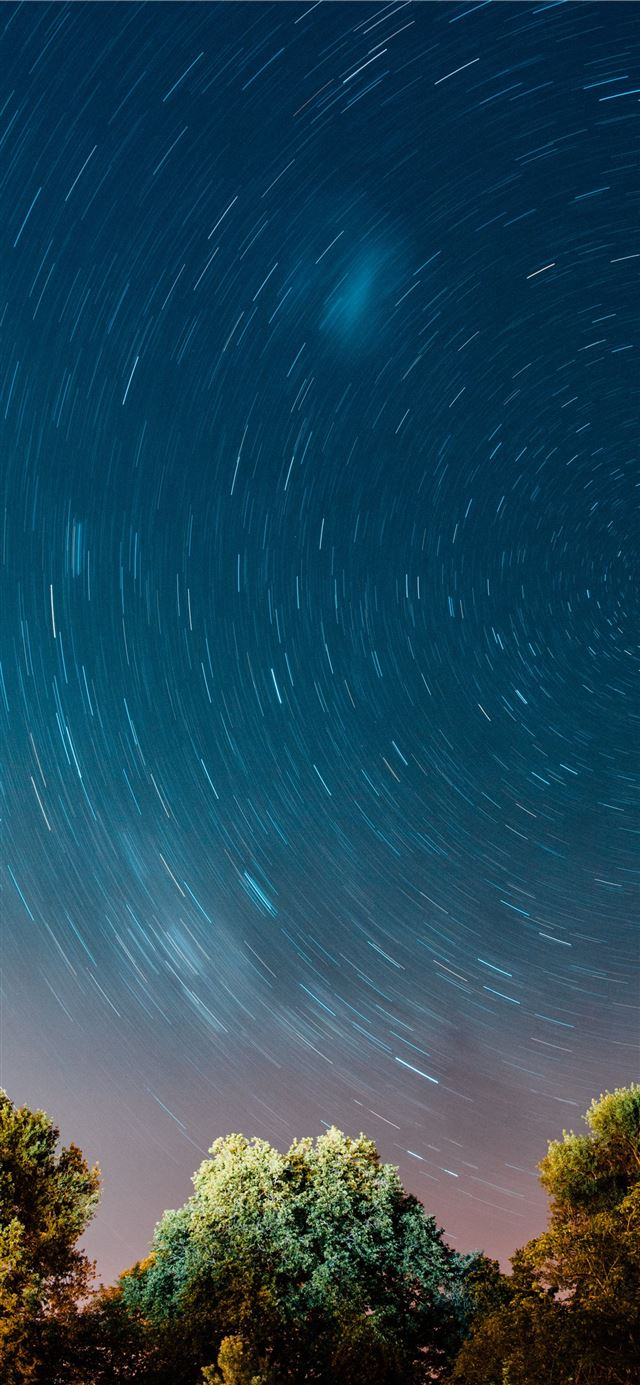 timelapse photo of stars iPhone X wallpaper