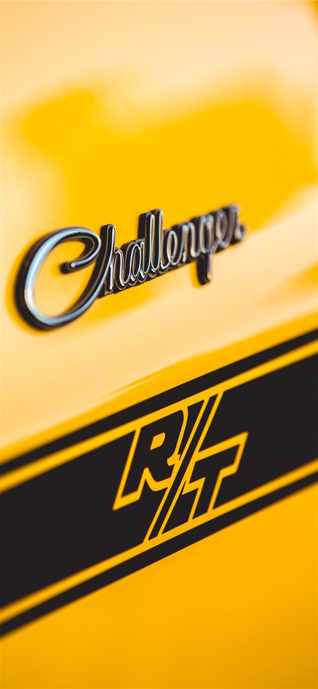 yellow Dodge Challenger iPhone 11 wallpaper
