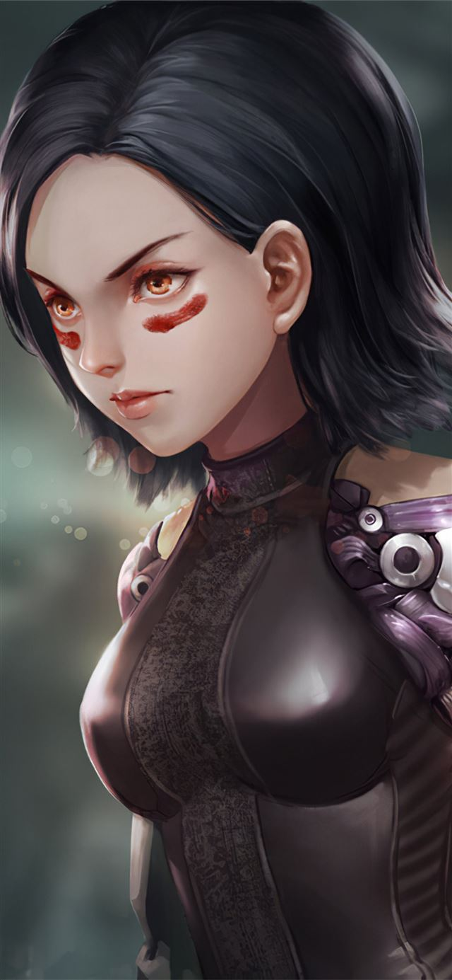 alita battle angel art new iPhone X wallpaper