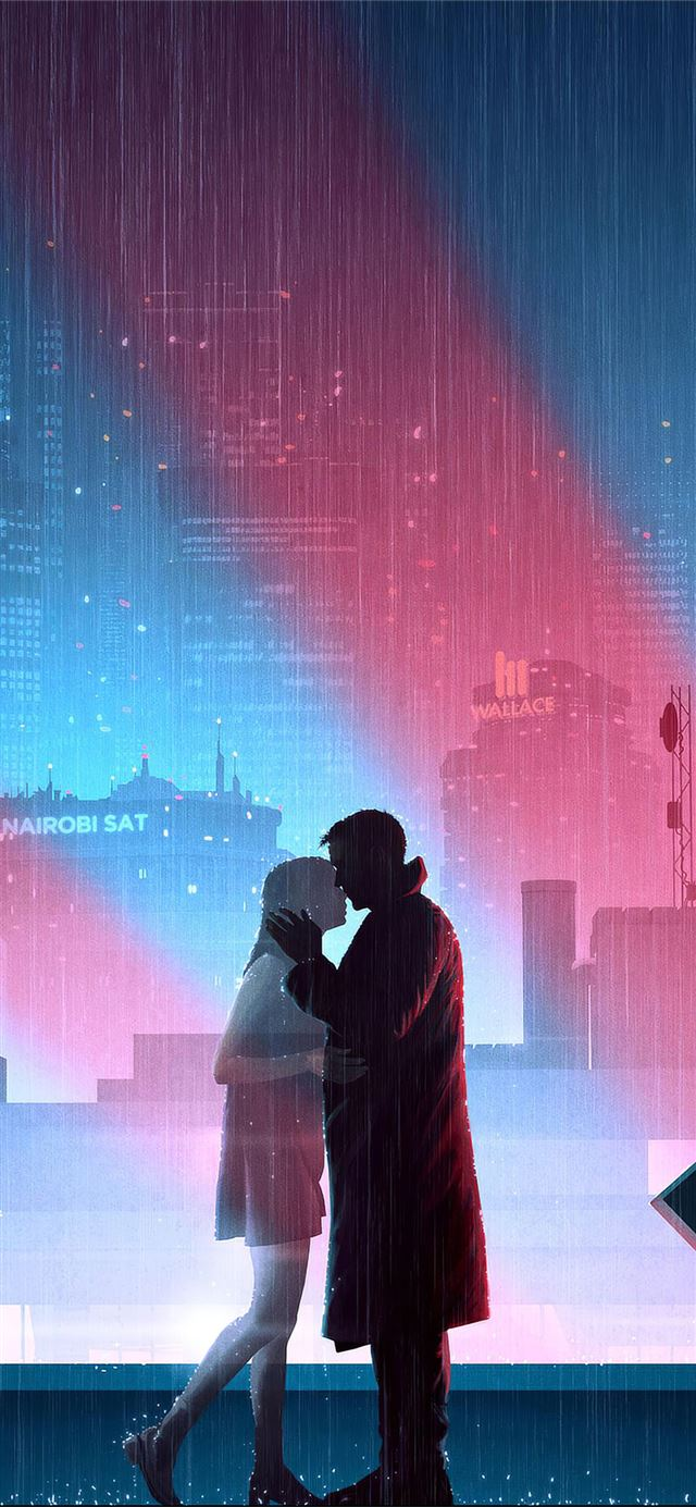 blade runner 2049 love story 4k iPhone X wallpaper