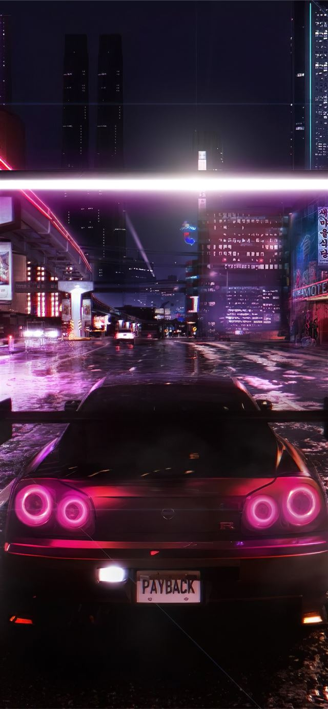 need for speed payback cyberpunk 4k iPhone X wallpaper