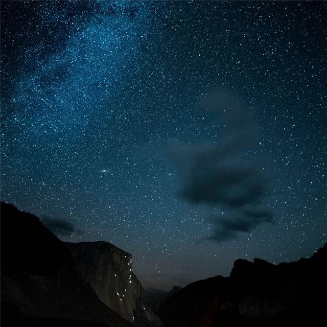 night out in yosemite iPad wallpaper