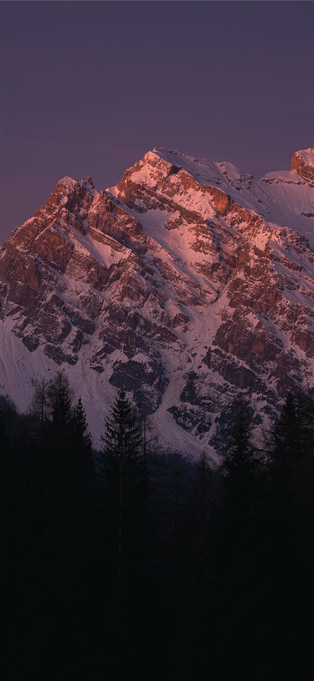 snow covered mountain during daytime iPhone X wallpaper