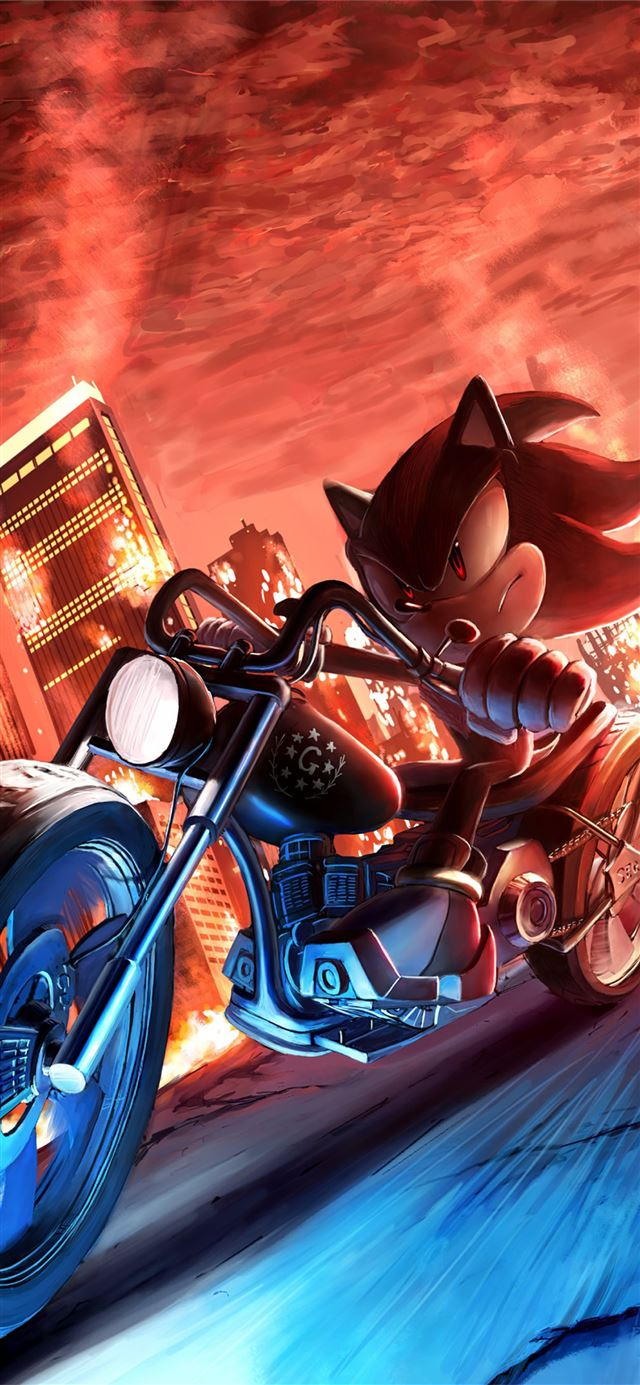 sonic shadow the hedgehog 4k iPhone 11 wallpaper