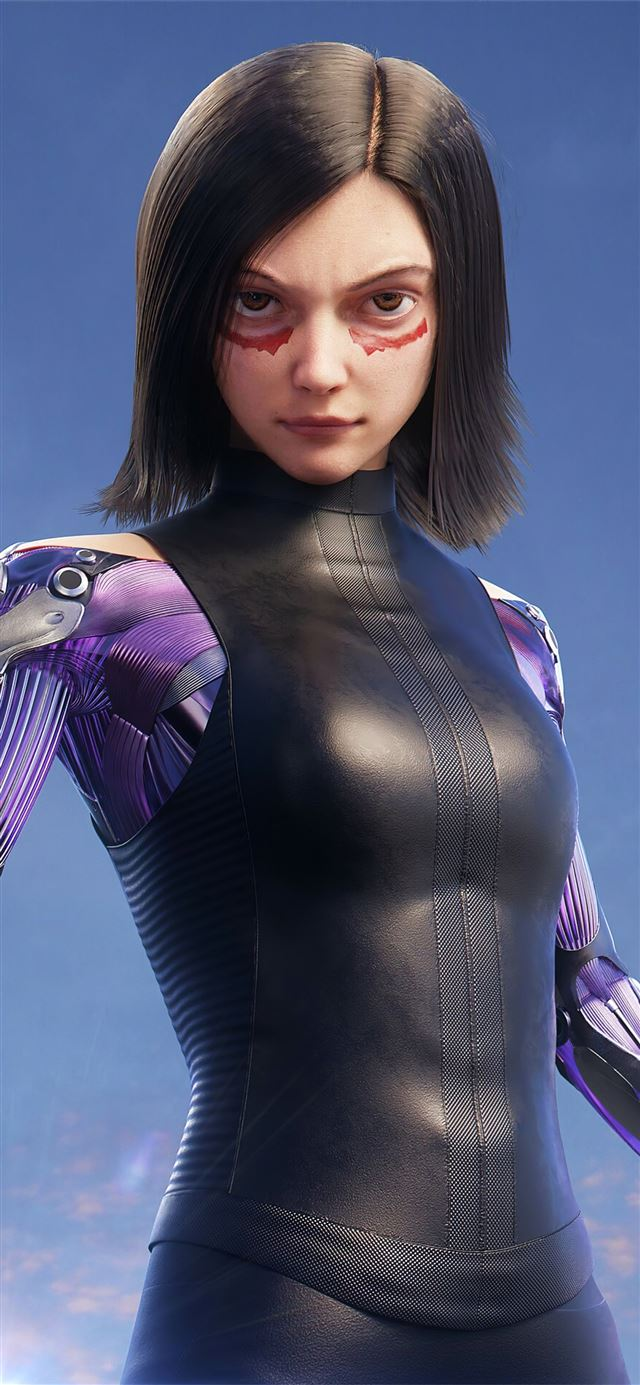 the alita battle angel art4k iPhone 11 wallpaper