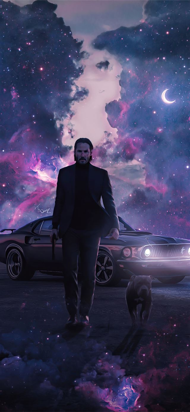john wick dog 4k 2020 iPhone X wallpaper