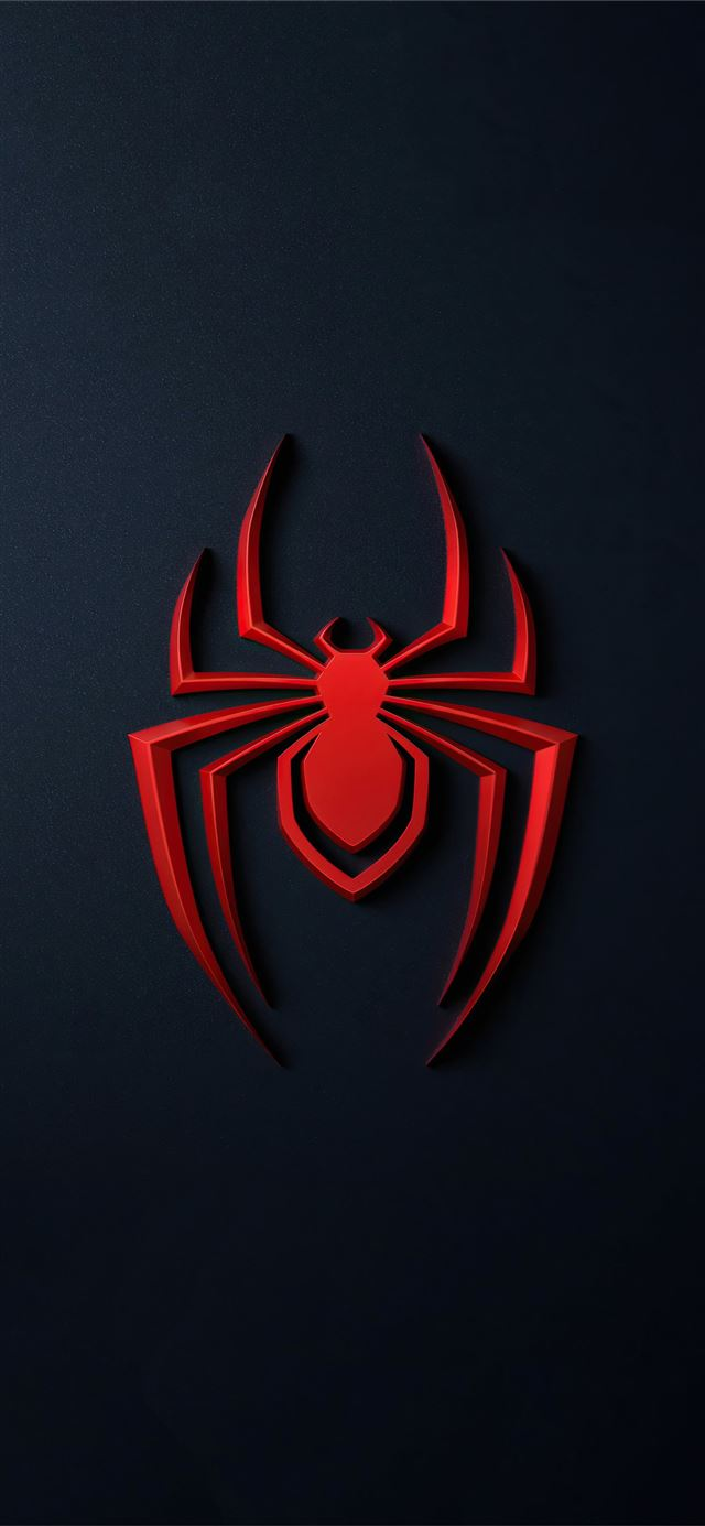 spider man miles morales logo 4k iPhone X wallpaper