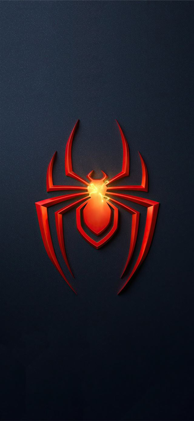 spider man miles morales ps5 game logo 4k iPhone X wallpaper
