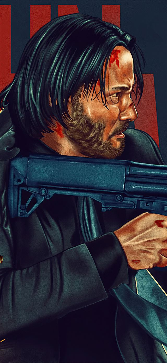 john wick 4k poster iPhone X wallpaper