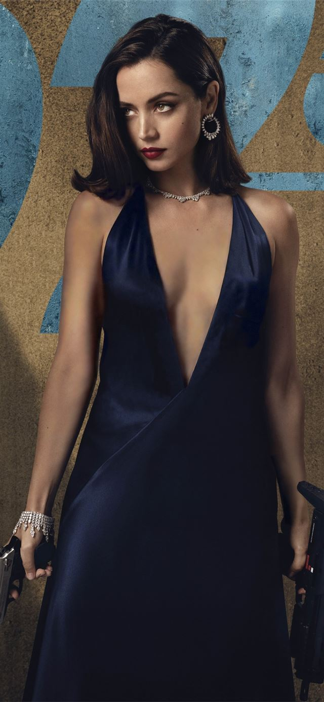 no time to die ana de armas 8k iPhone 11 wallpaper