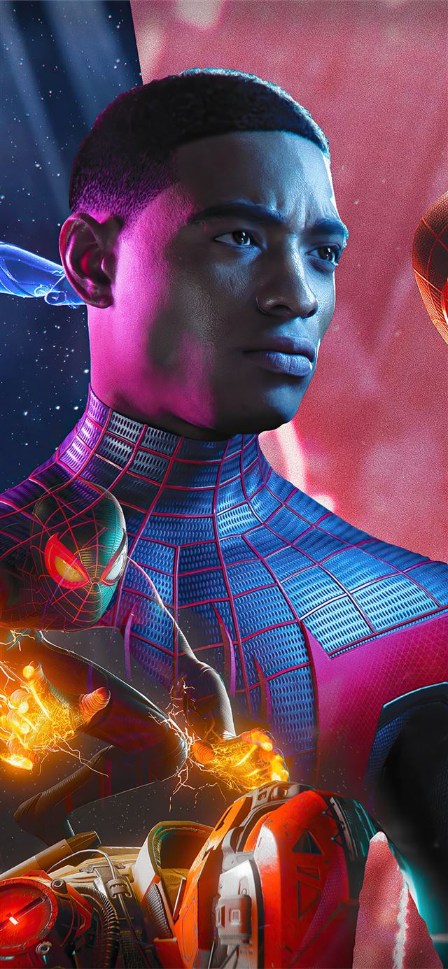 spider man miles morales 2020 4k iPhone X wallpaper