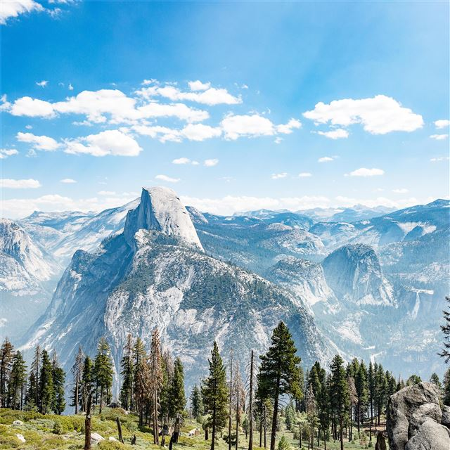 5k yosemite national park great view iPad Pro wallpaper