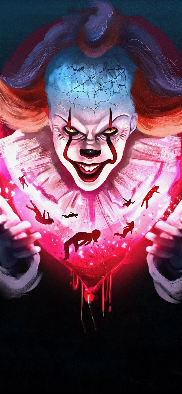 pennywise newart iPhone 11 wallpaper