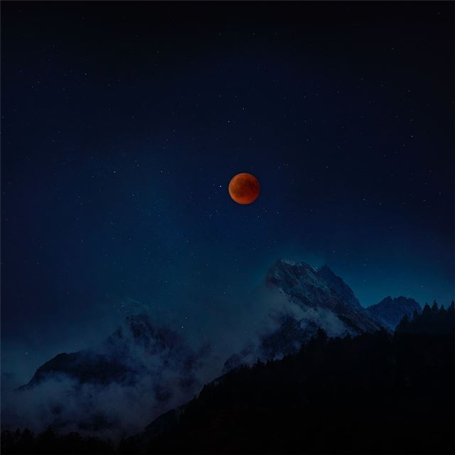 moon eclipse 8k iPad Pro wallpaper