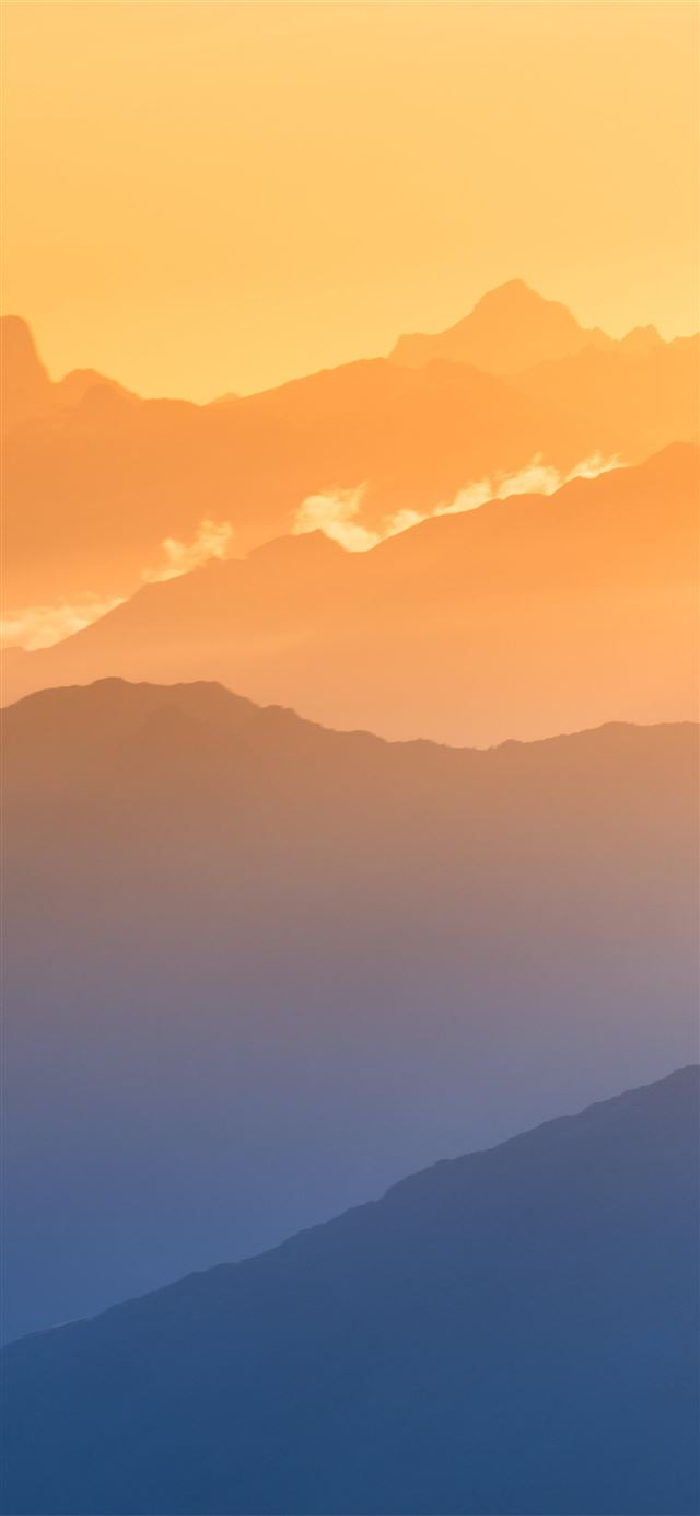 southern alps mountains 8k iPhone X wallpaper