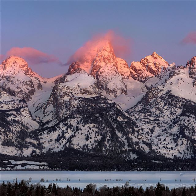 grand teton alpenglow iPad wallpaper