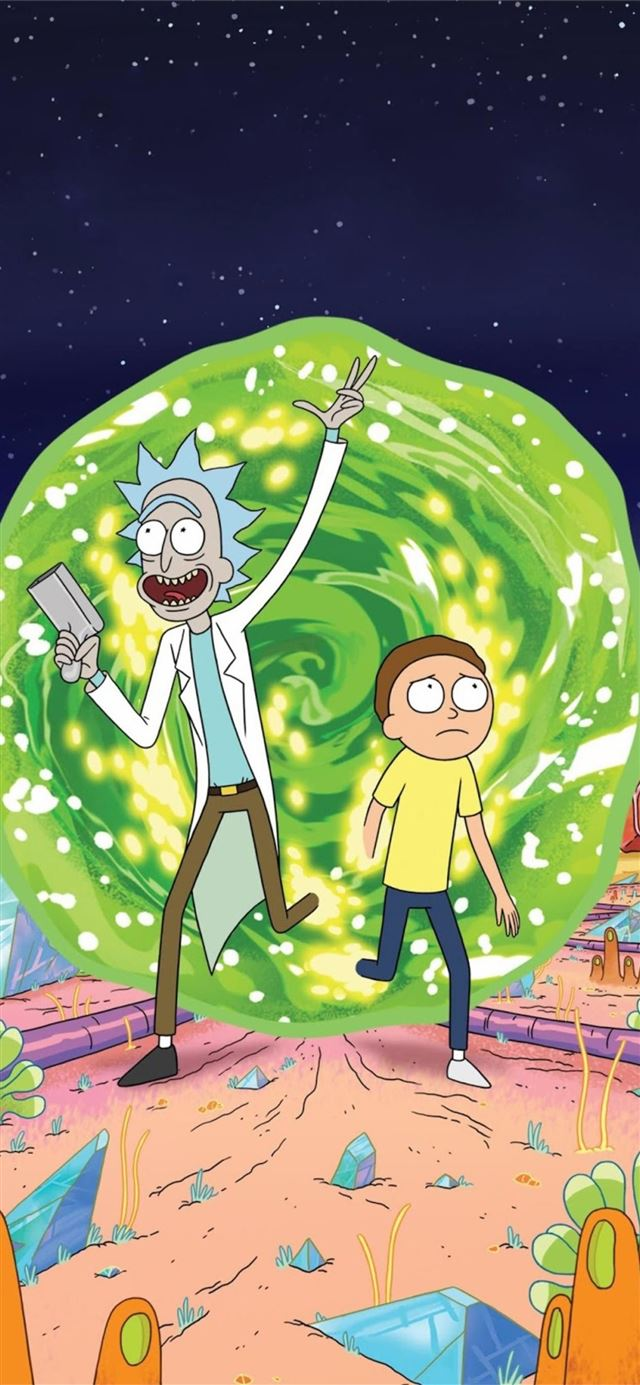 rick and morty iphone iPhone 11 wallpaper