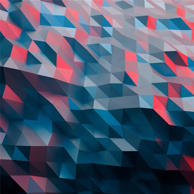 low poly abstract artwork 4k iPad Pro wallpaper